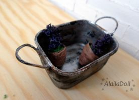 Miniature Rusted Vintage Pan by alaila1