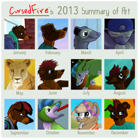 2013 Summary of Art by CursedFire