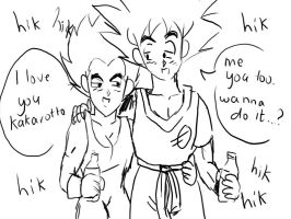 Goku and Veggie Drunk Xd by ssjbra-chan