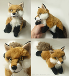 SOLD Red fox - small floppy by goiku