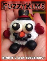 Polymer Clay Snowman by KIMMIESCLAYKREATIONS