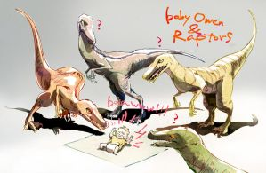 baby Owen and Raptors by SEMI01
