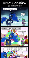 Comic (Russian) Spike's Fantasy by drawponies