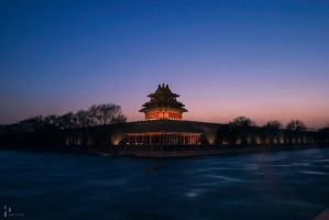 China,Beijing, the Imperial Palace watchtower by XiaolinDesign