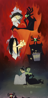 Samurai Jack and Aku by KarlaFrazetty
