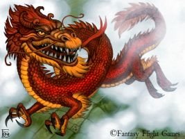 Chinese Dragon for Talisman by feliciacano