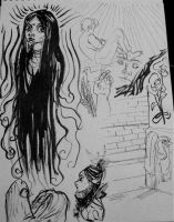 Ink Drawings 4 by Megalosaurus