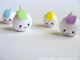 Rice Ball Charms by stereometric