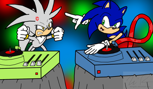 DJ Battle: Sonic VS. Silver by sonigoku