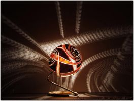 Table lamp IX - Spiral Harmony by Calabarte