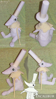 Excalibur plushie by Bonday