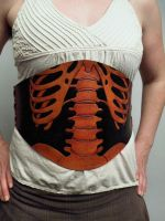 Rib cage Under Bust Corset by ravenmountain