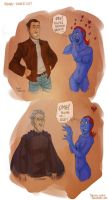 X-MEN - Magneto: young vs.old by the-evil-legacy