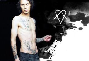 -NEW- Ville Valo Wallpaper by Pompelina