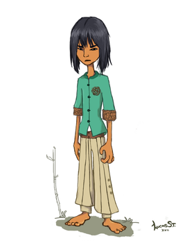 Boy from southern China - Character design by LucasArtsST