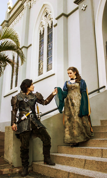 Prince Caspian and Queen Susan by Killzumi