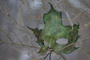 Green and Black Maple Mask by OsborneArts