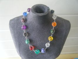 RPG dice necklace by LARvonCL
