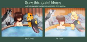 Poke Bath {Before And After} by Rockabell-Neko