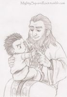 Balin and Dwalin 02 sketch by Isis-90