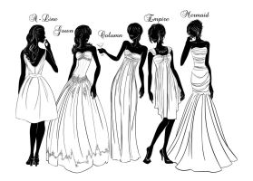 Hot Girl Etiquette: Dress Silhouette by Bouxjie