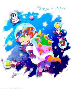 Bowser in Space by MissNeens