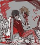 -Love You Forever- RedxGreen SKETCH by KT-ExReplica