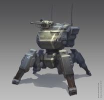 4-legged mech by GrayM