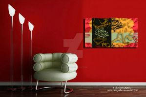 Wall frame calligraphy by calligrafer