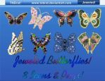 Jeweled Butterflies by TNBrat