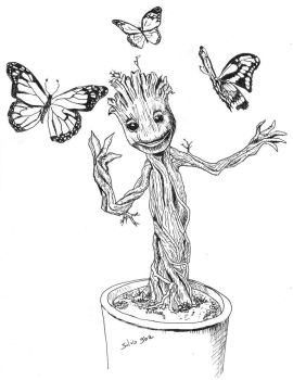 Little Groot by silvogba