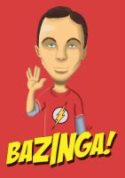 Sheldon Cooper Caricature by anapeig