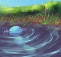 Wooper by MarshmallowInvader