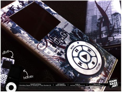 MP3 MP4 iPod Skin by sweetkamikaze