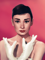 Audrey Hepburn wearing some gloves by clc1997