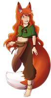 Leah Fullbody Reference by LeahFoxDen