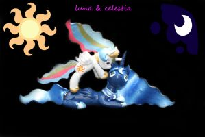 LUNA and CELESTIA FOR SALE by emmyzbunny