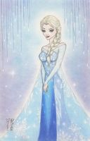 Elsa (Frozen) Original Art by DenaeFrazierStudios