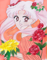 Flower Girl Chibi-usa by geo-girl