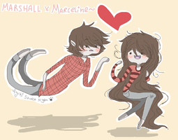 Marshall and Marceline by Ayuki-Shura-Nyan