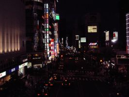 Shinjuku At Night by pixie--stick