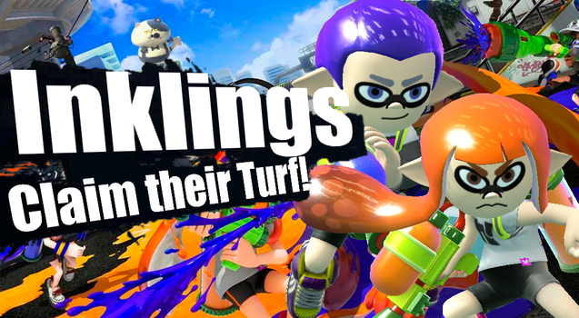 Inklings Claim Their Turf -Smash Mii Project by Cheatster9000x
