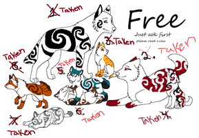 Free wolf adoptables by EmoBoysSweetHeart