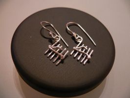 silver note earrings by irineja
