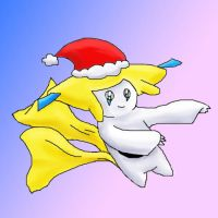Christmas Jirachi by moltres93