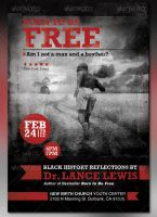 Born to be Free Black History Flyer and CD by loswl