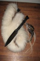 Custom bone knife fox sheath 2 by lupagreenwolf
