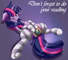 Twilight Sparkle commands you to read. by KnifeH
