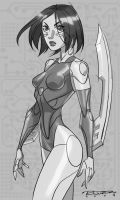Sketch::Battle Angel Alita by KharyRandolph