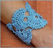 Crochet bracelet by Cinciut